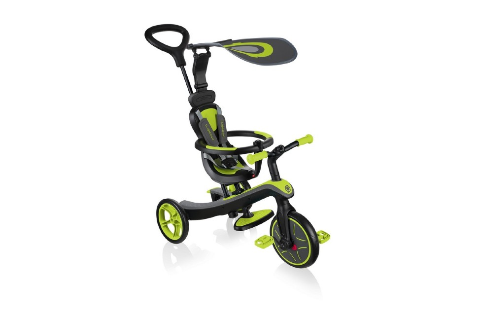 Велосипед-беговел Globber TRIKE EXPLORER 4 IN 1(Зеленый)